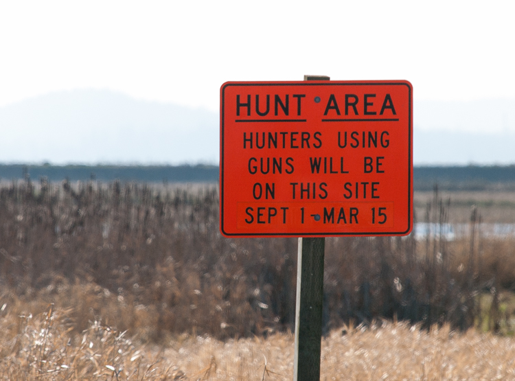 Hunting Area Sign
