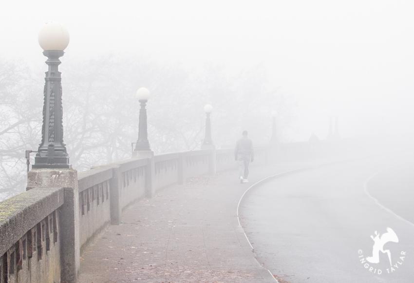 Fog on Queen Anne hill in Seattle