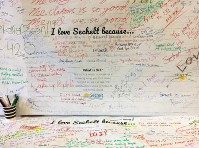 I Love Sechelt Because Sign