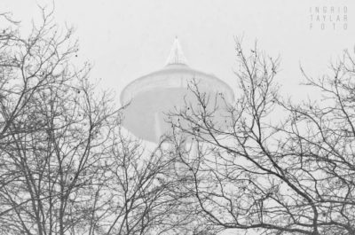 Seattle Space Needle in the Snow