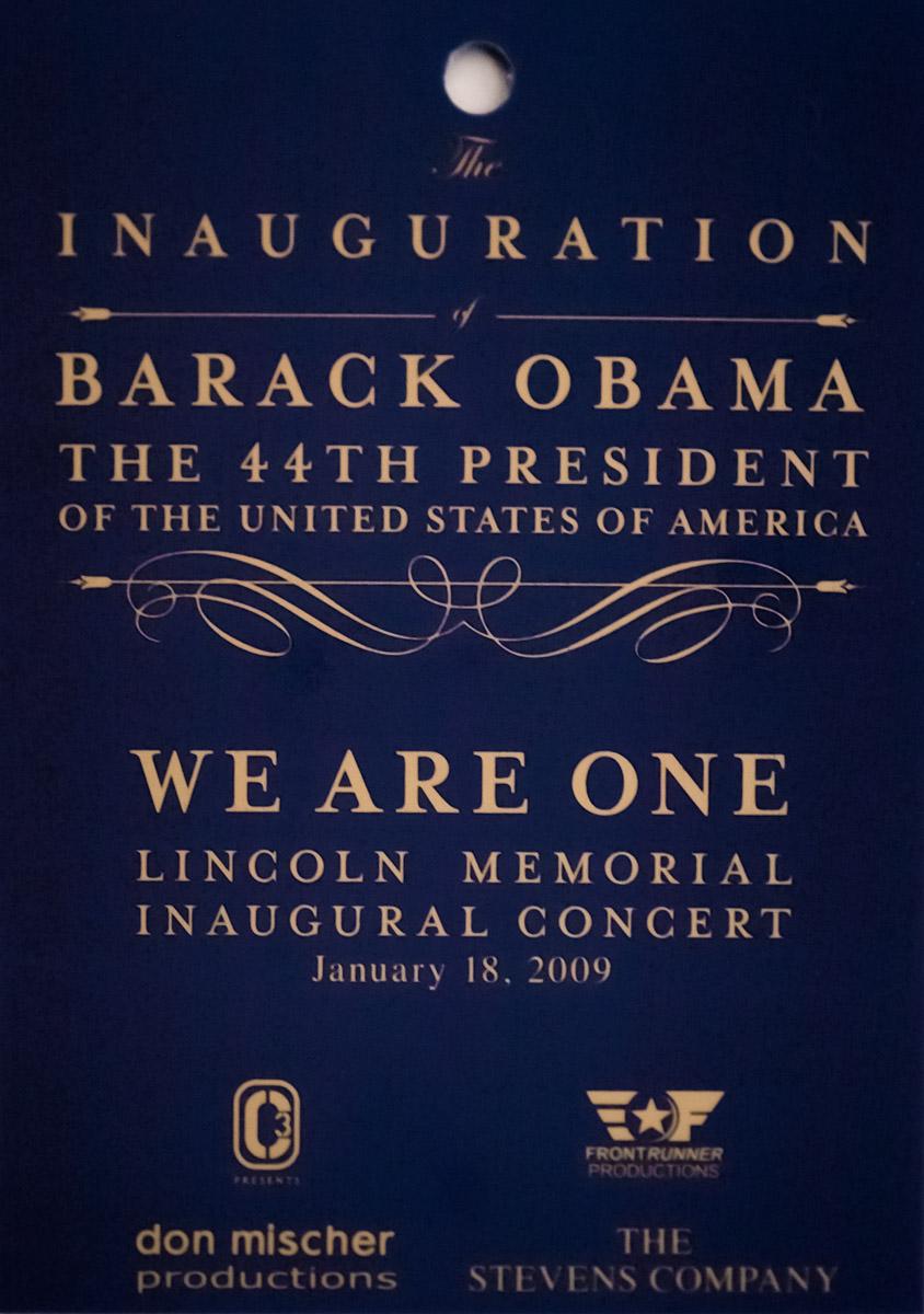 Obama Inauguration Concert Invite