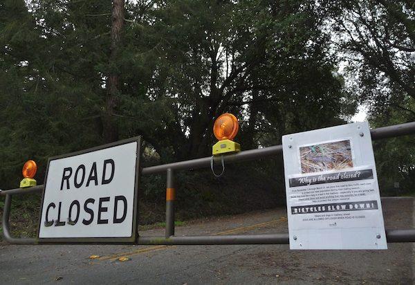South Park Drive Closed in Tilden Park