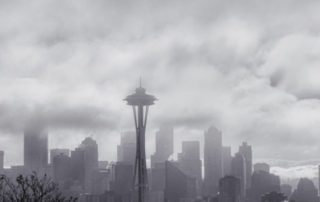 Fog Over Seattle Skyline