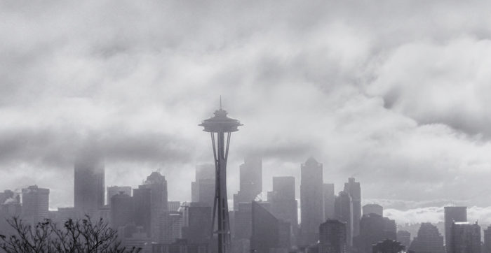 Fog Over Seattle Skyline