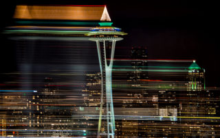 Seattle Space Needle Christmas Lights