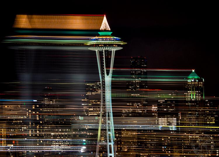 Seattle Space Needle Christmas Lights