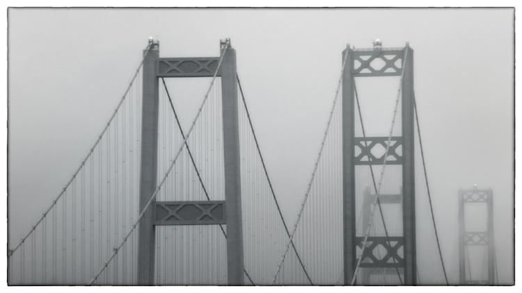Tacoma Narrows Bridge in Fog