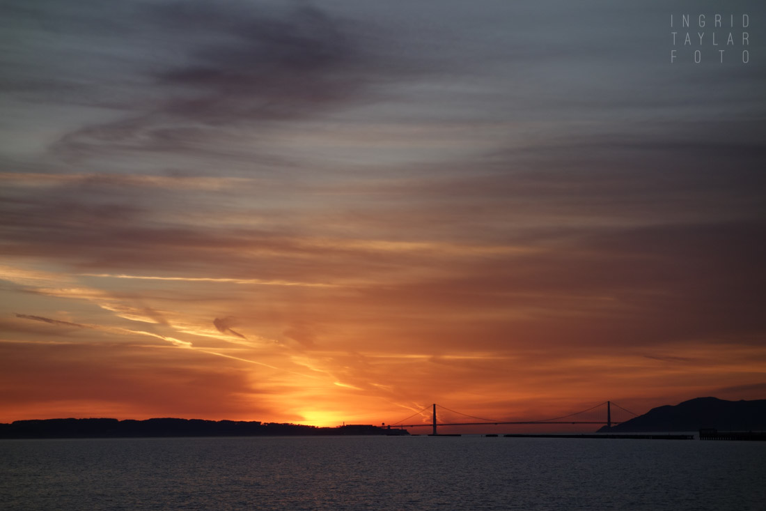 Golden Gate Fiery Sunset