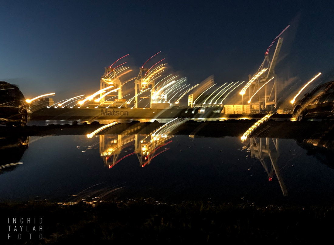 Port of Oakland at Night