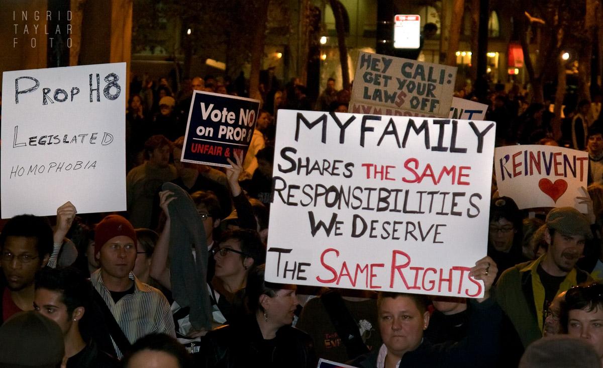 Vote No on Prop 8 March in San Francisco