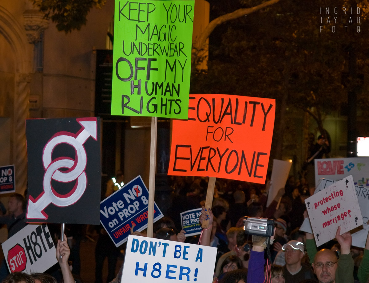No on Prop 8 Protest in California