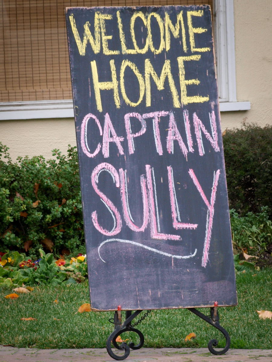 Welcome Home Sully Sullenberger Sign
