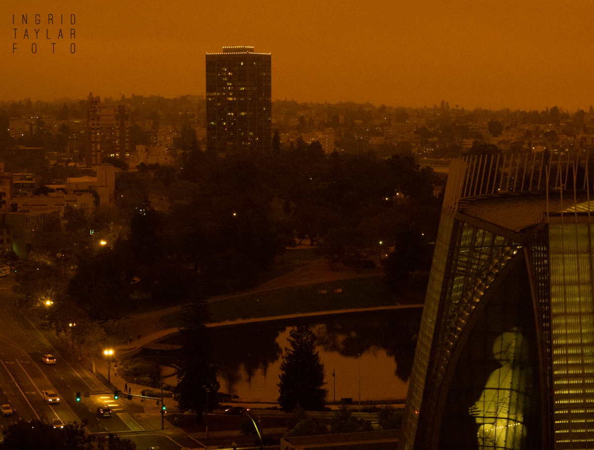 Lake Merritt Cathedral of Christ the Light in Wildfire Smoke