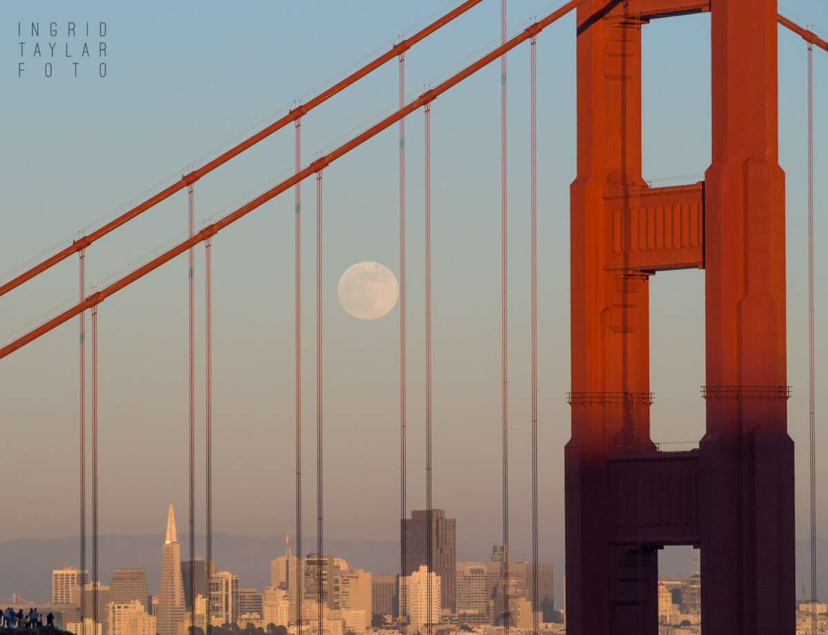 Moonrise over the Golden Gate and San Francisco