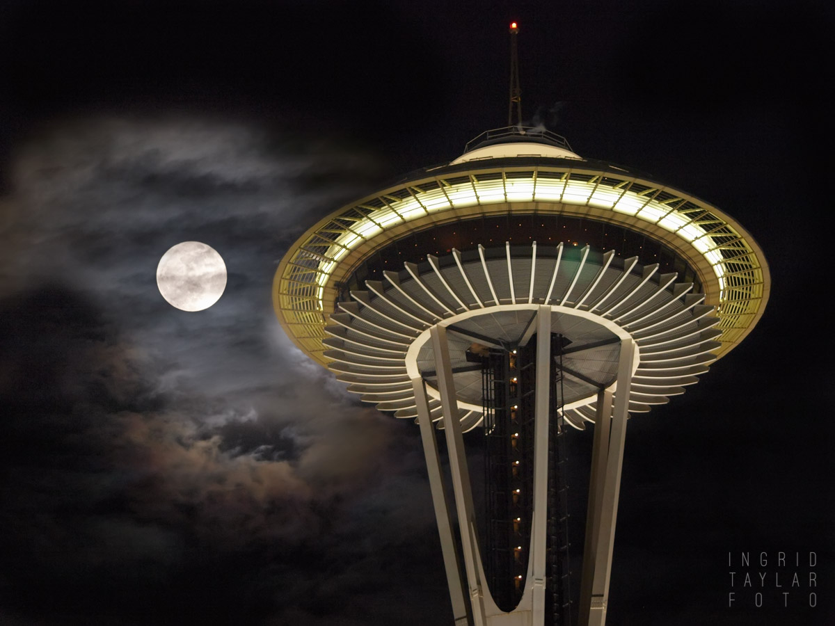 Space Needle Moon_