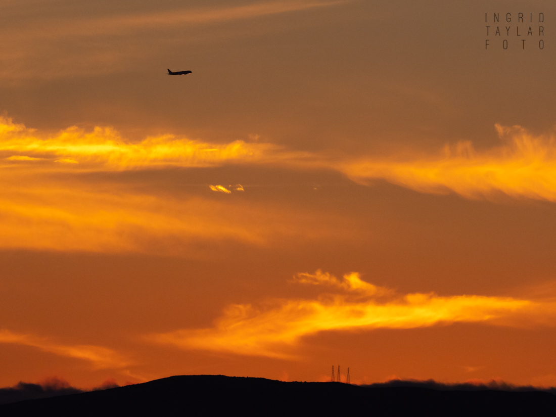 Sunset Aircraft Takeoff