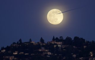 Last Full Moon of 2020 over Oakland, California
